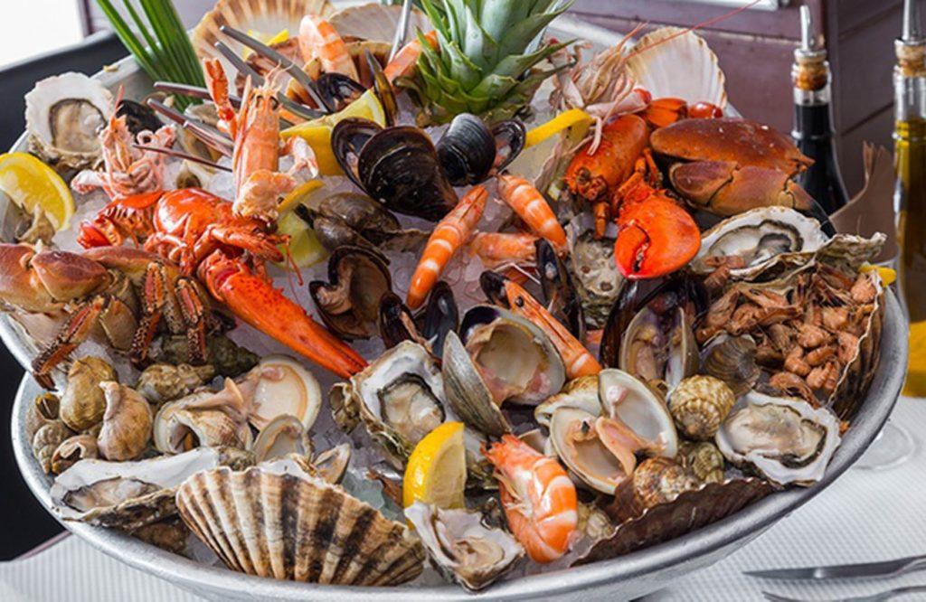 Buffet de fruits de mer de la méditerranée